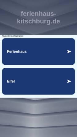 Vorschau der mobilen Webseite www.ferienhaus-kitschburg.de, Ferienhaus Kitschburg