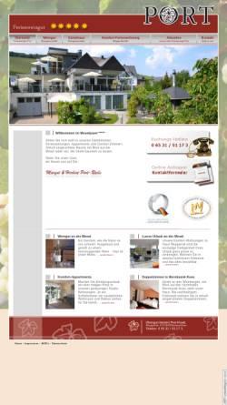Vorschau der mobilen Webseite www.ferienweingut-port.de, Ferienweingut Port
