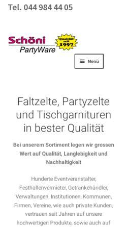 1ec5a58a54c9e6 Schöni PartyWare AG in Esslingen Egg b.Zürich (Schweiz ...