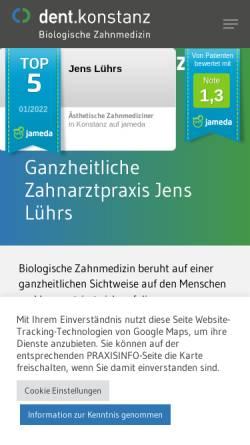 Vorschau der mobilen Webseite www.dent-konstanz.de, Jens Lührs