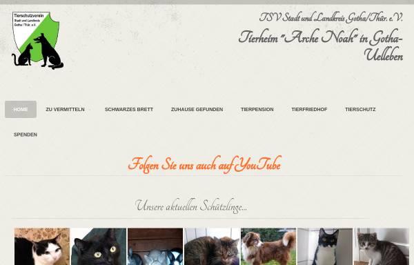 Vorschau von www.tierheim-gotha.net, Tierschutzverein Stadt und Landkreis Gotha e.V.