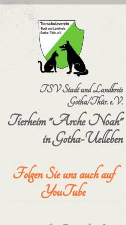 Vorschau der mobilen Webseite www.tierheim-gotha.net, Tierschutzverein Stadt und Landkreis Gotha e.V.