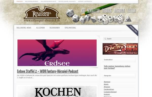 Vorschau von www.rollenspiel-almanach.de, Rollenspiel Almanach