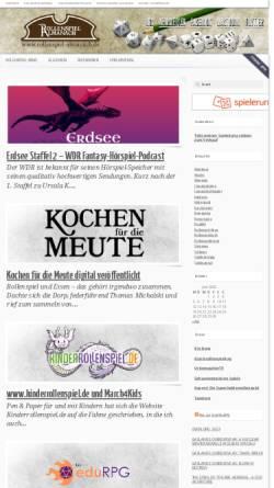 Vorschau der mobilen Webseite www.rollenspiel-almanach.de, Rollenspiel Almanach