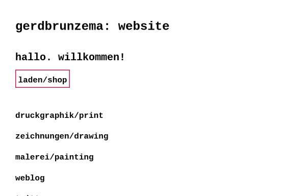 Vorschau von gerdbrunzema.com, Brunzema, Gerd