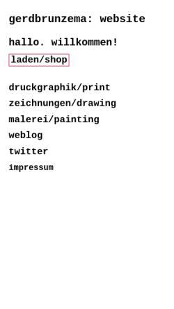 Vorschau der mobilen Webseite gerdbrunzema.com, Brunzema, Gerd