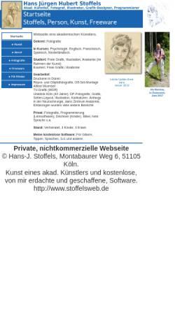 Vorschau der mobilen Webseite www.stoffelsweb.de, Stoffels, Hans-Jürgen