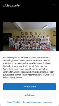 Vorschau der mobilen Webseite www.li-bo.de, Li-Bo Kung Fu Vereinigung