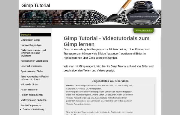 Vorschau von www.gimp-tutorials.de, Gimp Tutorials