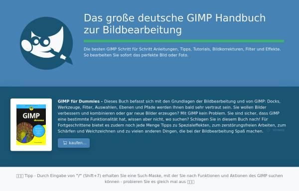 Vorschau von www.gimp-handbuch.de, Gimp-Handbuch