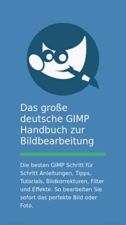 Vorschau der mobilen Webseite www.gimp-handbuch.de, Gimp-Handbuch