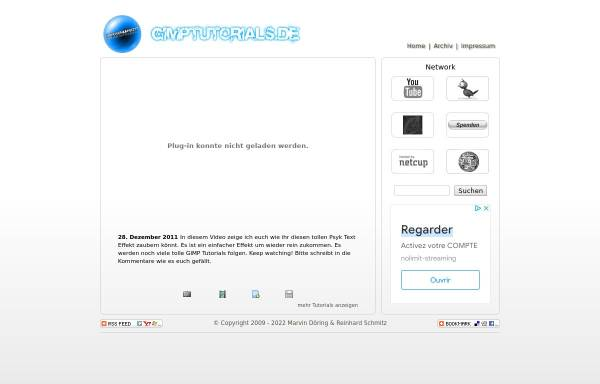 Vorschau von www.gimptutorials.de, GimpTutorials