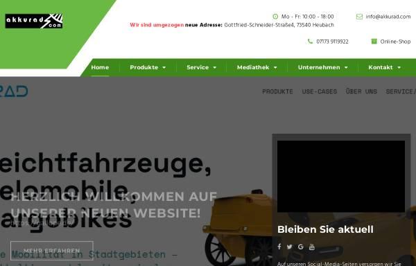 Vorschau von www.akkurad.com, Akkurad GmbH