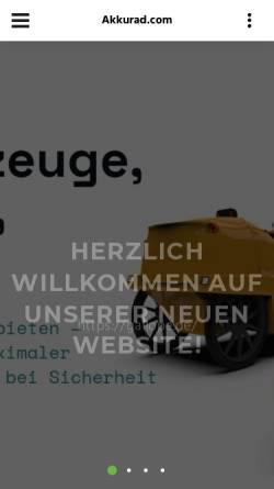 Vorschau der mobilen Webseite www.akkurad.com, Akkurad GmbH
