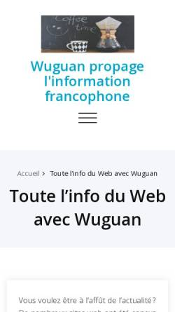 Vorschau der mobilen Webseite www.wuguan.ch, Wuguan - Zentrum für traditionelle chinesische Kampfkünste