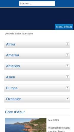 Vorschau der mobilen Webseite www.schlingels.de, Südafrika / Transkei - ein vielseitiges Land [Anke Schlingemann & Detlef Hälker]
