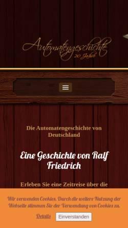Vorschau der mobilen Webseite automatengeschichte.de, Automatengeschichte Deutschland by Ralf Friedrich