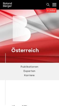 Vorschau der mobilen Webseite www.rolandberger.at, Berger, Roland Berger Strategy Consultants