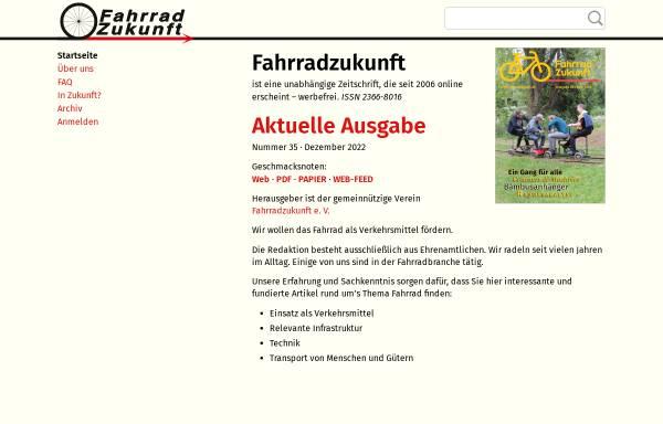 Vorschau von www.fahrradzukunft.de, Fahrradzukunft