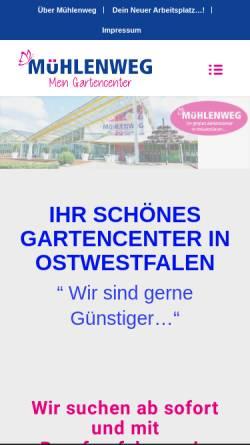 Vorschau der mobilen Webseite www.gartencenter-muehlenweg.de, Gartencenter Mühlenweg GmbH & Co. Pflanzenhandel KG