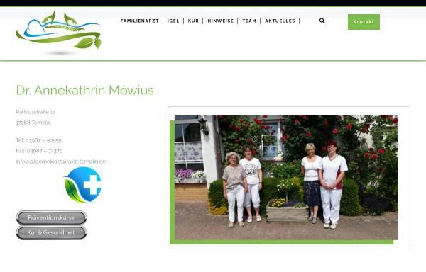 Vorschau von www.allgemeinarztpraxis-templin.de, Dr. med. Annekathrin Möwius