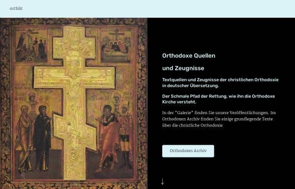 Vorschau von orthlit.de, Orthodoxe Literatur in deutscher Sprache