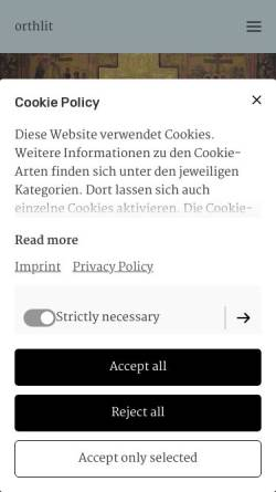 Vorschau der mobilen Webseite orthlit.de, Orthodoxe Literatur in deutscher Sprache