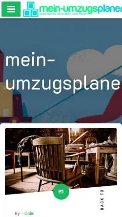 Vorschau der mobilen Webseite www.mein-umzugsplaner.de, Umzugsplaner