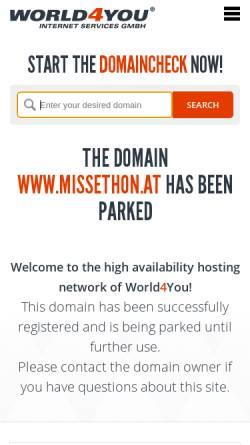 Vorschau der mobilen Webseite www.missethon.at, Hannes Missethon Unternehmensentwicklung GmbH
