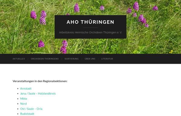 Vorschau von www.aho-thueringen.de, Arbeitskreis Heimische Orchideen Thüringen e.V.