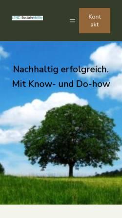 Vorschau der mobilen Webseite www.lenz-consult.com, Lenz Consulting
