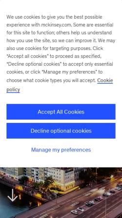 Vorschau der mobilen Webseite www.mckinsey.de, McKinsey & Company - German Office