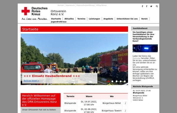 Vorschau von www.drk-konz.de, DRK Ortsverein Konz e.V.