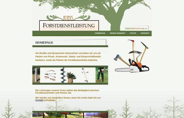 Vorschau von www.forstdienstleistung.eu, Forstdienstleistung Kubis