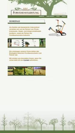 Vorschau der mobilen Webseite www.forstdienstleistung.eu, Forstdienstleistung Kubis