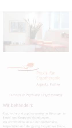 Vorschau der mobilen Webseite www.ergotherapie-fischer.com, Ergotherapiepraxis Angelika Fischer