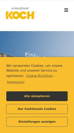 Vorschau der mobilen Webseite www.koch-einkaufsland.de, G. Koch GmbH & Co. KG - Das Einkaufsland