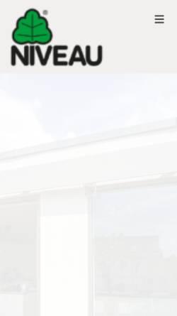Vorschau der mobilen Webseite www.niveau.de, NIVEAU Fenster Westerburg GmbH