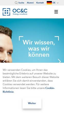 Vorschau der mobilen Webseite www.occstrategy.de, OC&C Strategy Consultants GmbH