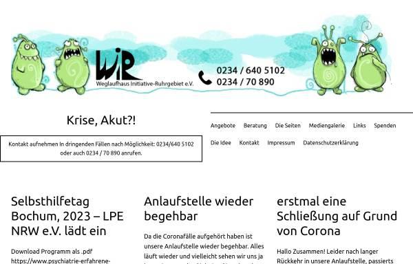 Vorschau von www.weglaufhaus-nrw.de, Weglaufhaus-Initiative Ruhrgebiet e.V.
