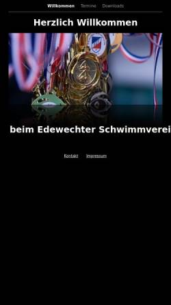 Vorschau der mobilen Webseite www.edewechter-sv.de, Edewechter Schwimmverein 1960 e.V.