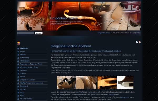 Vorschau von www.geigenbauonline.de, Geigenbauonline