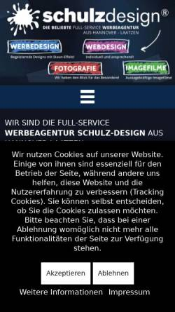 Vorschau der mobilen Webseite www.schulz-gastronomie-service.de, Schulz-Gastronomie-Servicee und Schulz-Design