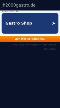 Vorschau der mobilen Webseite www.jh2000gastro.de, JH 2000 Gastronomiebedarf Inh. Erika Hermann