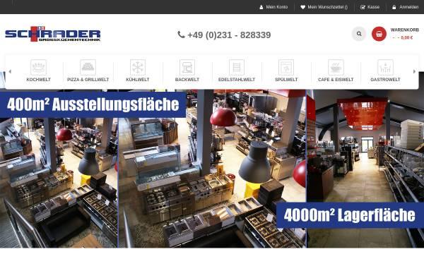 Vorschau von www.gastro-schrader.de, Schrader Grossküchentechnik