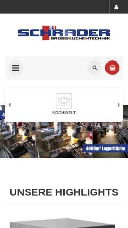 Vorschau der mobilen Webseite www.gastro-schrader.de, Schrader Grossküchentechnik