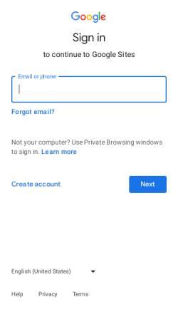 Vorschau der mobilen Webseite sites.google.com, Lernmaeuse