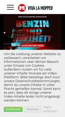 Vorschau der mobilen Webseite vivalamopped.com, Viva La Mopped - der Video-Blog mit Informationen rund ums Motorad mit Markus Schultze