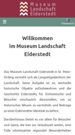 Vorschau der mobilen Webseite www.museum-landschaft-eiderstedt.de, Museum der Landschaft Eiderstedt