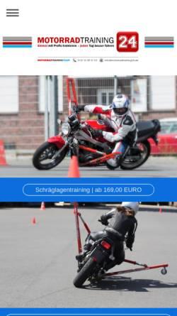 Vorschau der mobilen Webseite motorradtraining24.de, Motorradtraining24